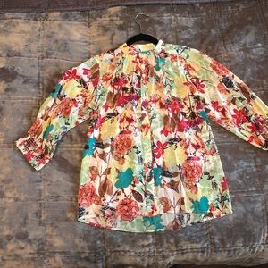 Alice + Olivia Floral Blouse